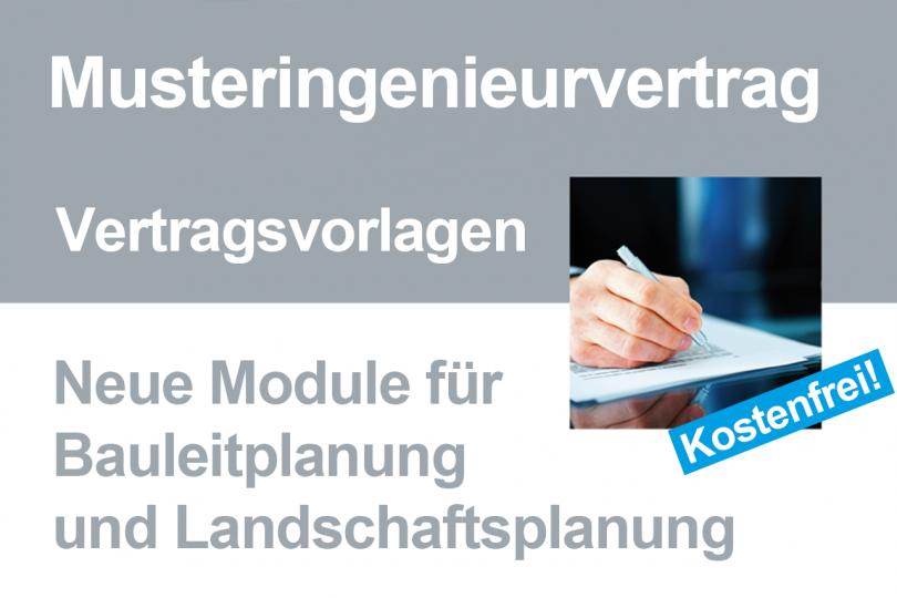 Muster Ingenieurvertrag Neue Vorlagen Für Bauleitplanung Und